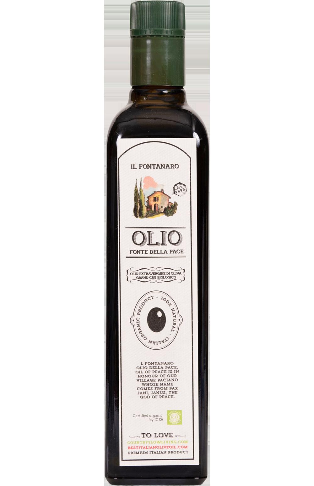 Fonte Della Pace Organic Extravergine di oliva